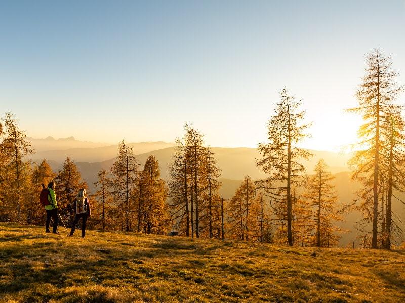 Golden autumn for hiking