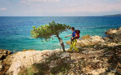 Krk Island Trail Küstenwandern im Frühling