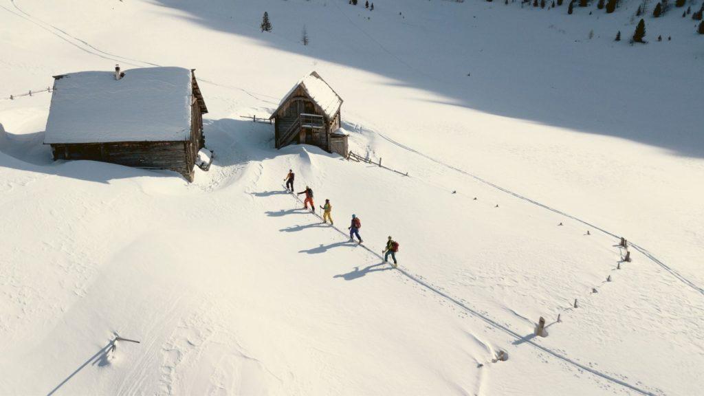 Auffellen am Skitourentrail Nockberge-Trail